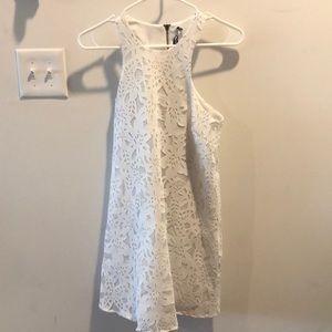 🌹 EUC Design Lab Lord &Taylor XS White Mini Dress